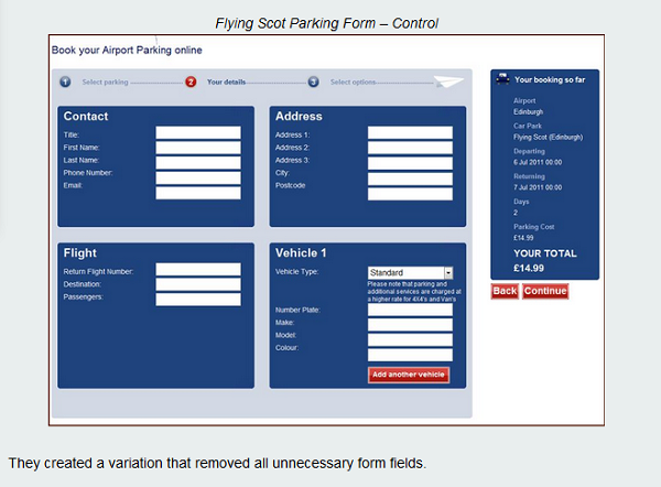 Flying Scot Parking old form