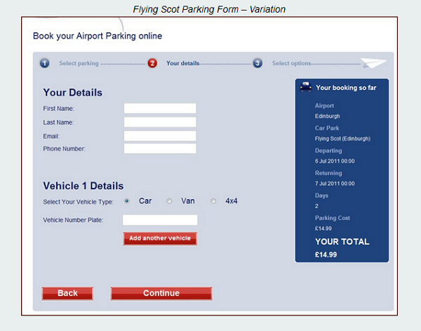 Flying Scot Parking new form
