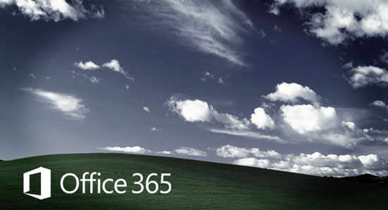 Office 365 screen