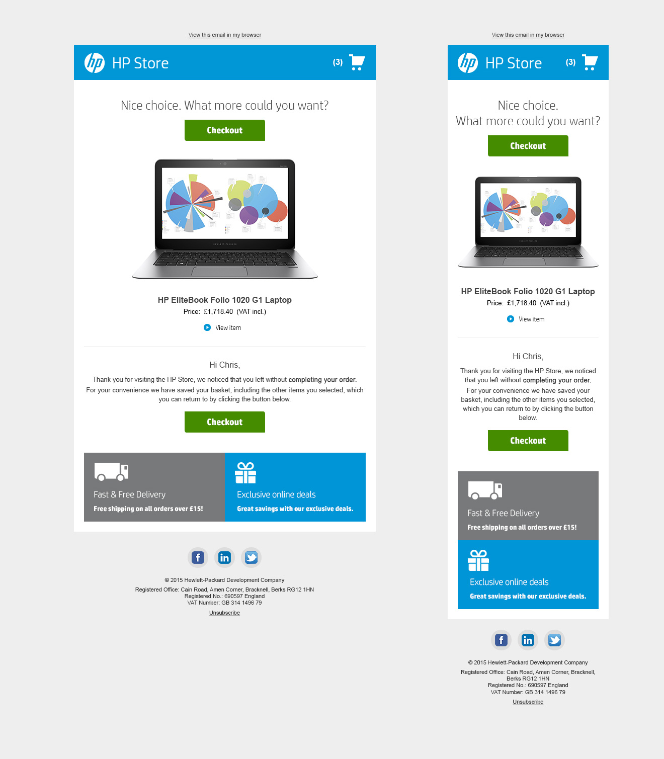 Hp store mobile and pc website