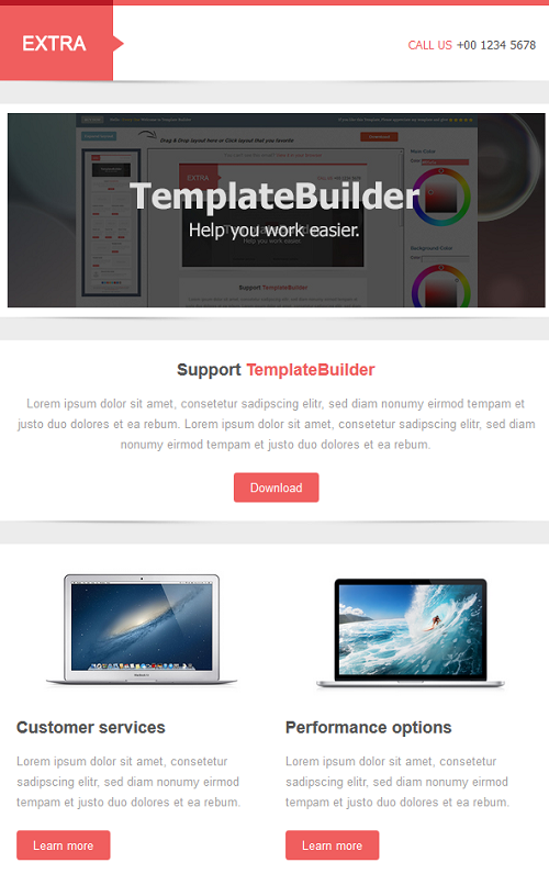 Extra template builder