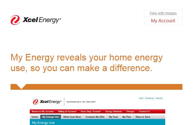 Xcel Energy Visible preheader text