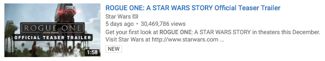 Star wars video example