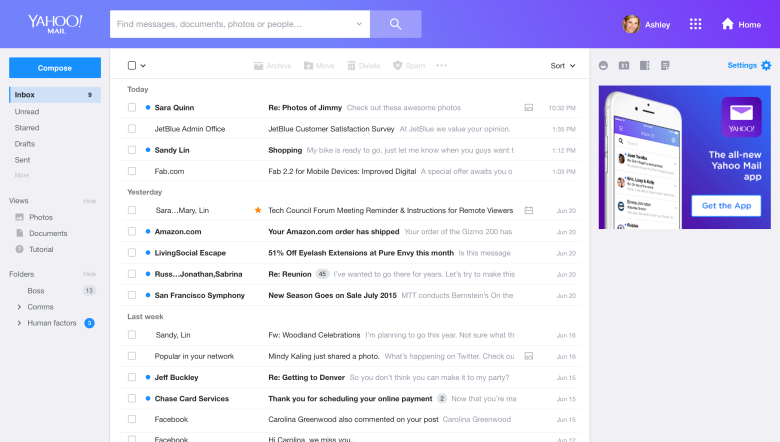 Yahoo! Mail Update