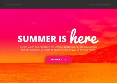 Summer Email Template