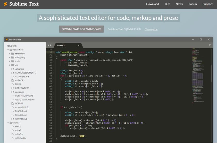 Sublime Text Editor Example