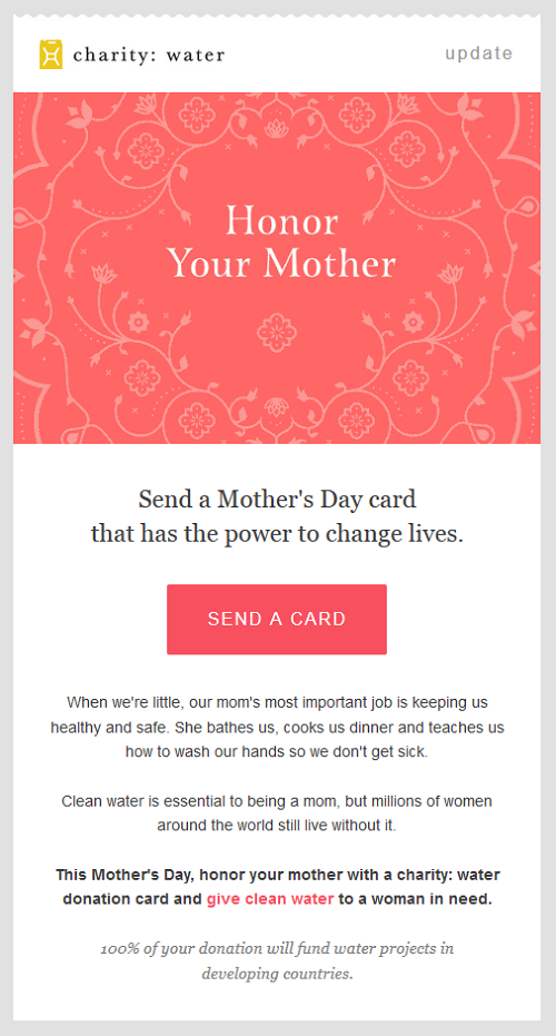 An Inspiring Mother\'s Day Campaign by Charity Water - Simply ...