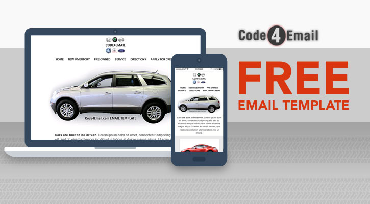 Grab Your Free Responsive Email Template By Code4Email