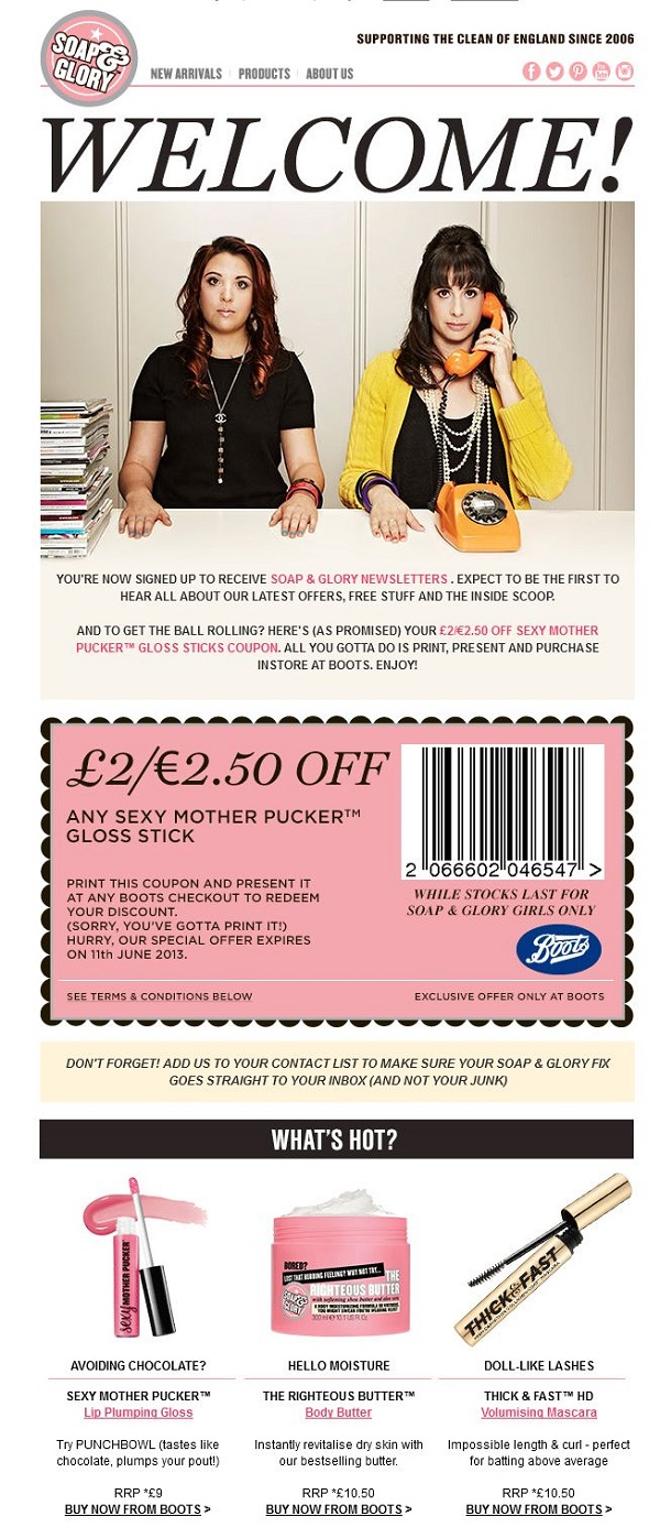 Soap&Glory email