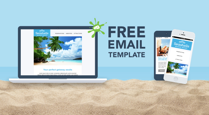 Grab seashells v20 of our free responsive email template pronofoot35fo Choice Image