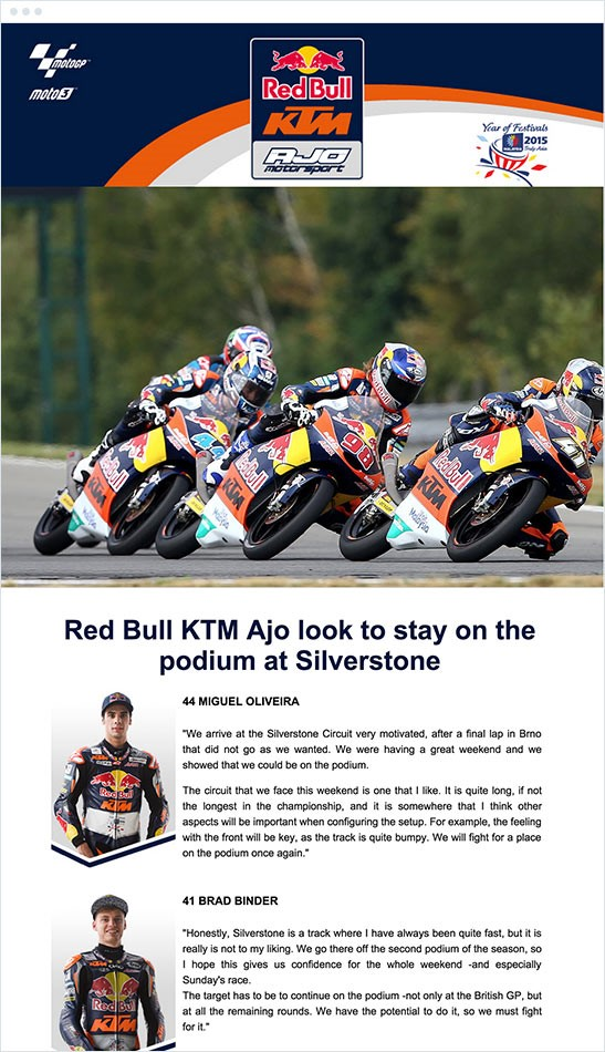 Red Bull non selling email