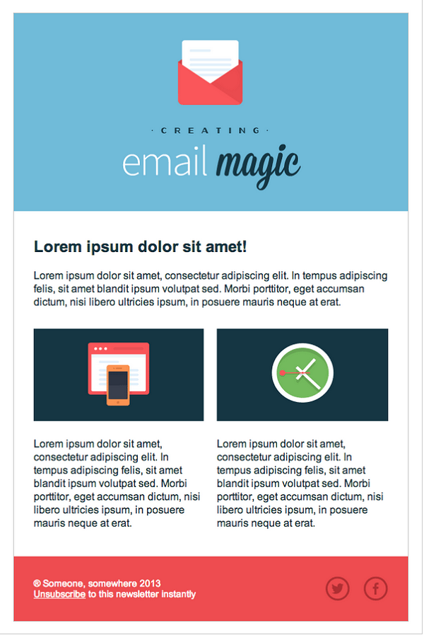 9 essential design elements of a conversion driven for Designing an email template