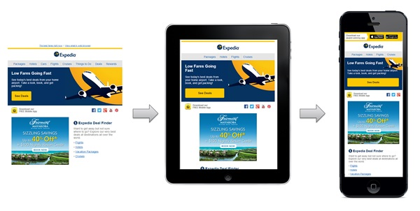 Expedia across many devices