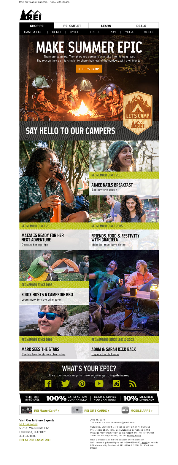 REI summer campaign