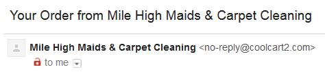 Clear subject line