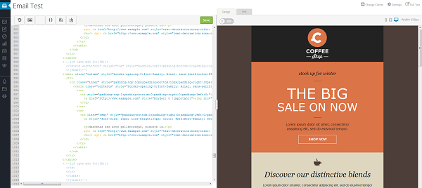 previewing email code