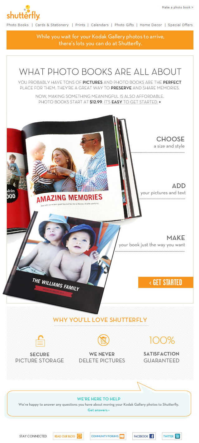 Shutterfly email
