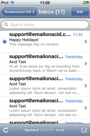 email on acid inbox