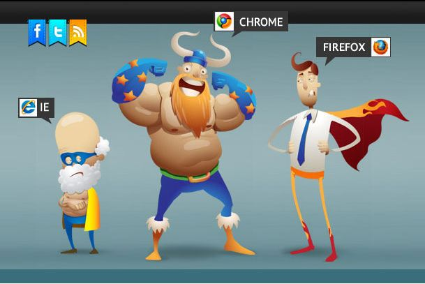 Internet browser heroes
