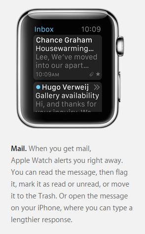 Apple Watch inbox