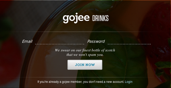 Gojee's website