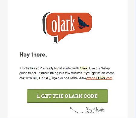 Olark's email campaign