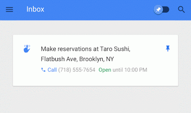 "Inbox's ""assist"" feature"