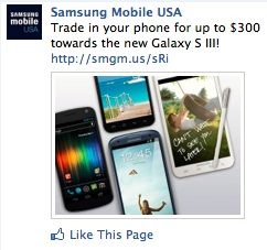 Samsung offer facebook post