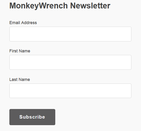 MailChimp's Newsletter