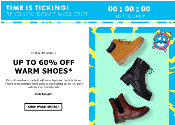 asos scarcity email