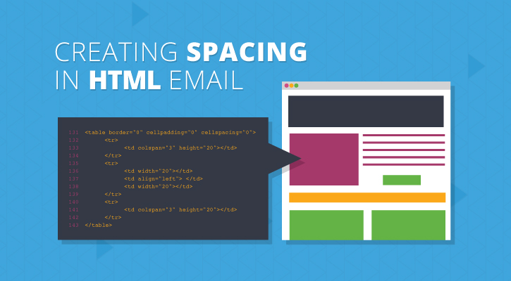 Spacing techniques in html email for Html table spacing