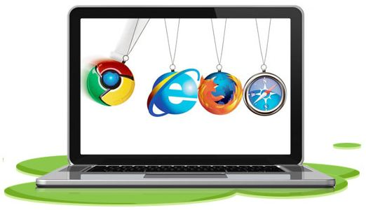 web browsers newton's cradle