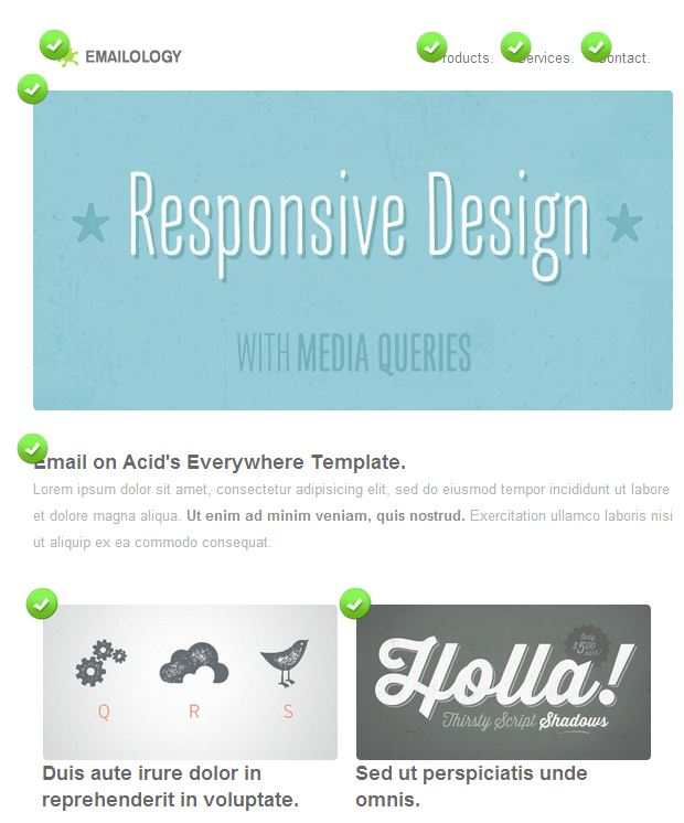 Responsive design template checklist